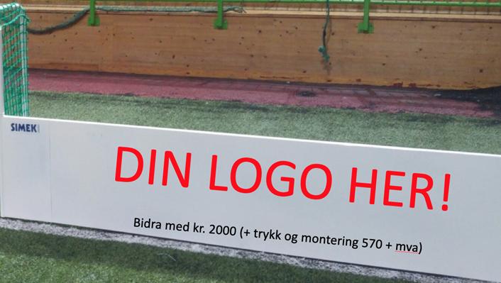 Bidra med 2000 kroner eller mer å få din logo på et et bane-element.