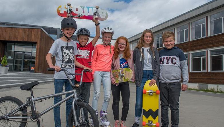 Skateboardrampe til Grong barne- og ungdomsskole